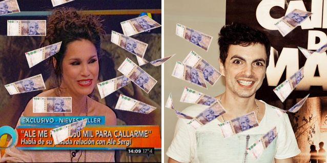 Nieves Jaller acusa a Ale Sergi: Él me pagó 50 mil pesos por mi silencio