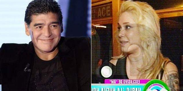 Apareció la mujer del beso a Diego Maradona y habló