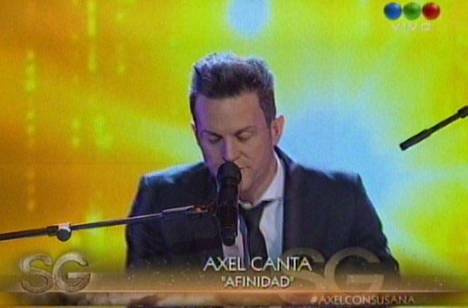 Axel presentó su nuevo disco y realizó un show en el programa de Susana Giménez