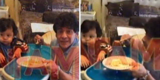 Con un video íntimo de Diego Maradona y su hijo, Verónica Ojeda desmiente la crisis y separación