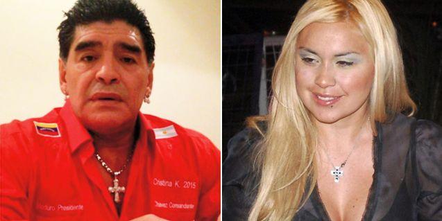 Otra vuelta de tuerca: peleado con Verónica Ojeda, Maradona se fue de Ezeiza