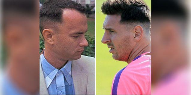 Comparan a Messi con Forest Gump por su nuevo look: mirá los parecidos