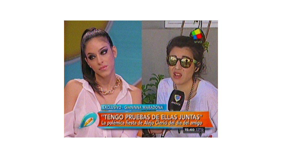 El fuerte cruce de Gianinna Maradona con la novia de Alejo Clérici por la fiesta del día del amigo