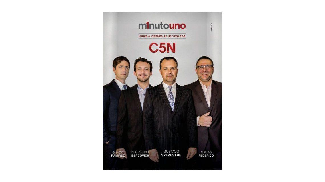 Así será Minuto Uno, el nuevo programa que Gustavo Sylvestre conducirá por C5N