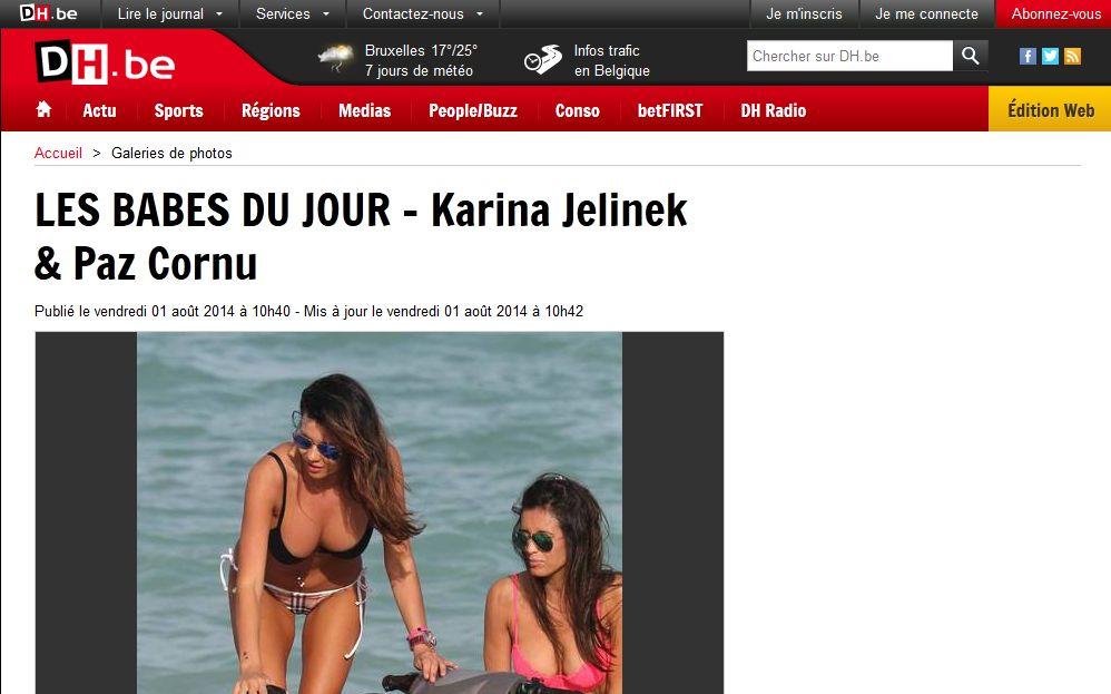 Karina Jelinek conquistó a los belgicanos con sus curvas bien argentinas