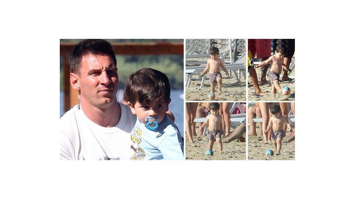Thiago confirma que es Messi: sus primeras gambetas en las playas de Italia