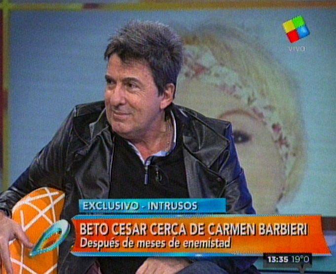 Beto César contó que Carmen Barbieri lo tiene como Snoopy en su celular