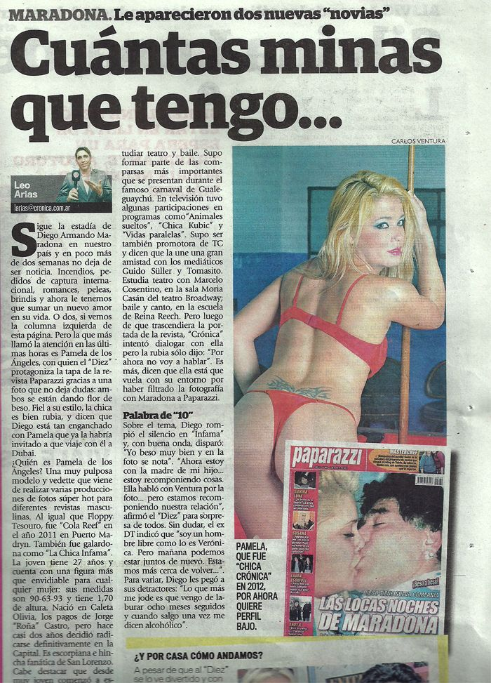 La supuesta nueva novia de Diego Maradona: tapa de todos los diarios