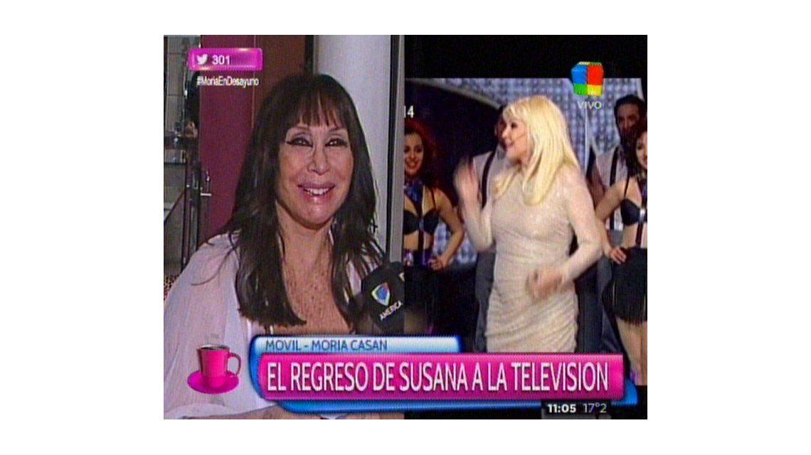 Moria Casán: Susana está viva. Momia pero viva. Ella se cree que está en los 80s