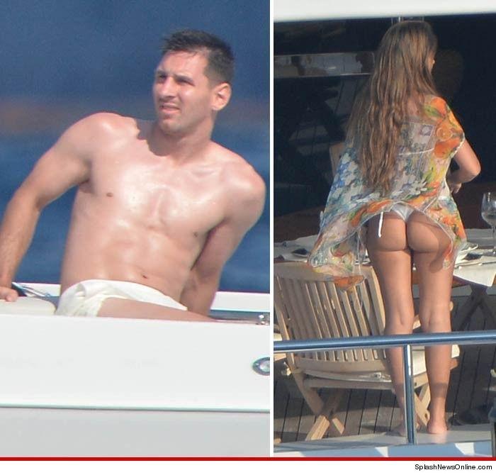 La cola de Antonella Roccuzzo, la mujer de Lionel Messi, llegó a TMZ