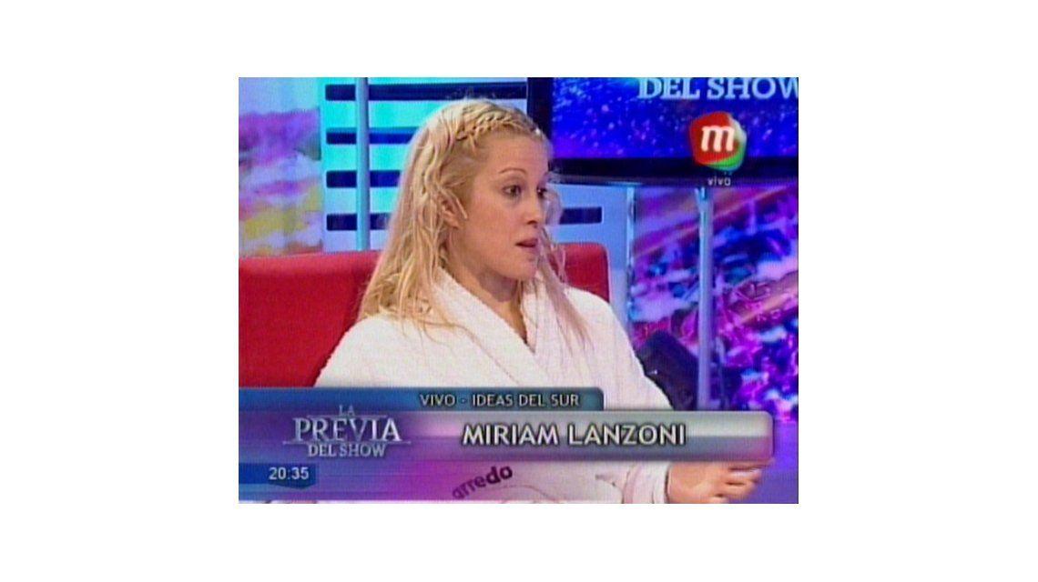 Miriam Lanzoni relató su accidente paranormal: Había una bola de fuego y pensamos que era un ovni