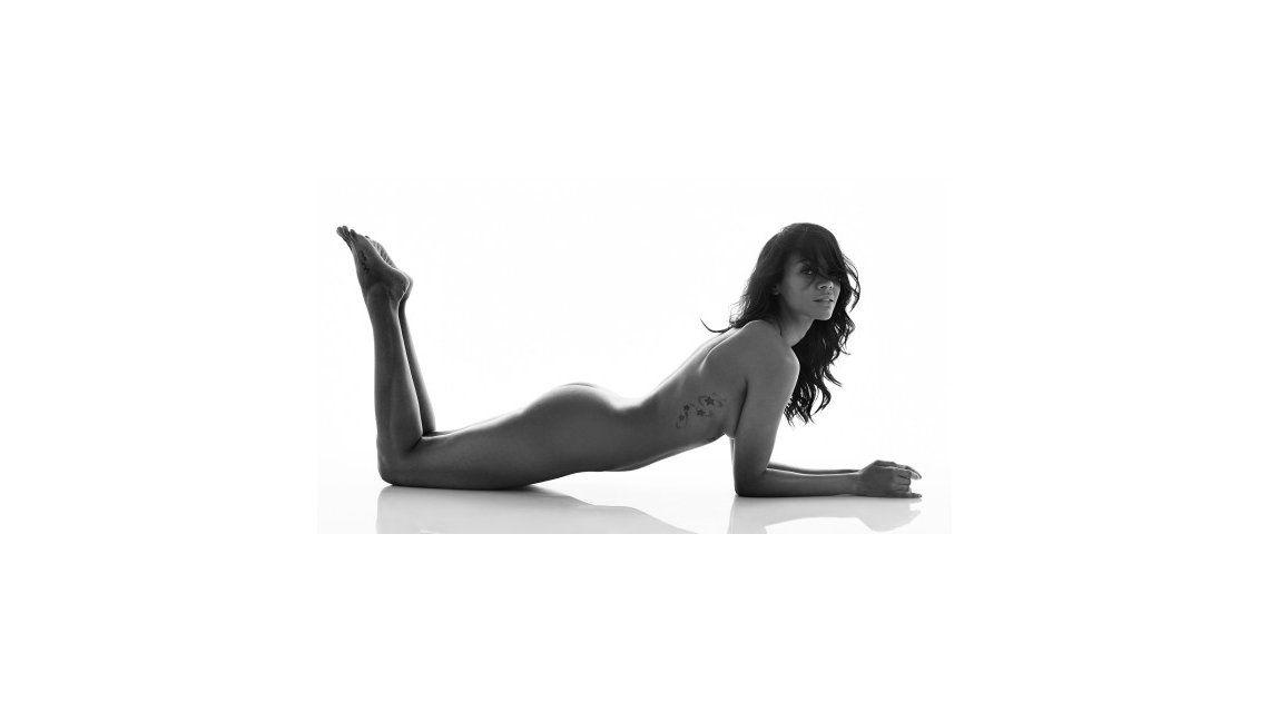Zoe Saldana posó desnuda en la tapa de una revista, ¿está embarazada?