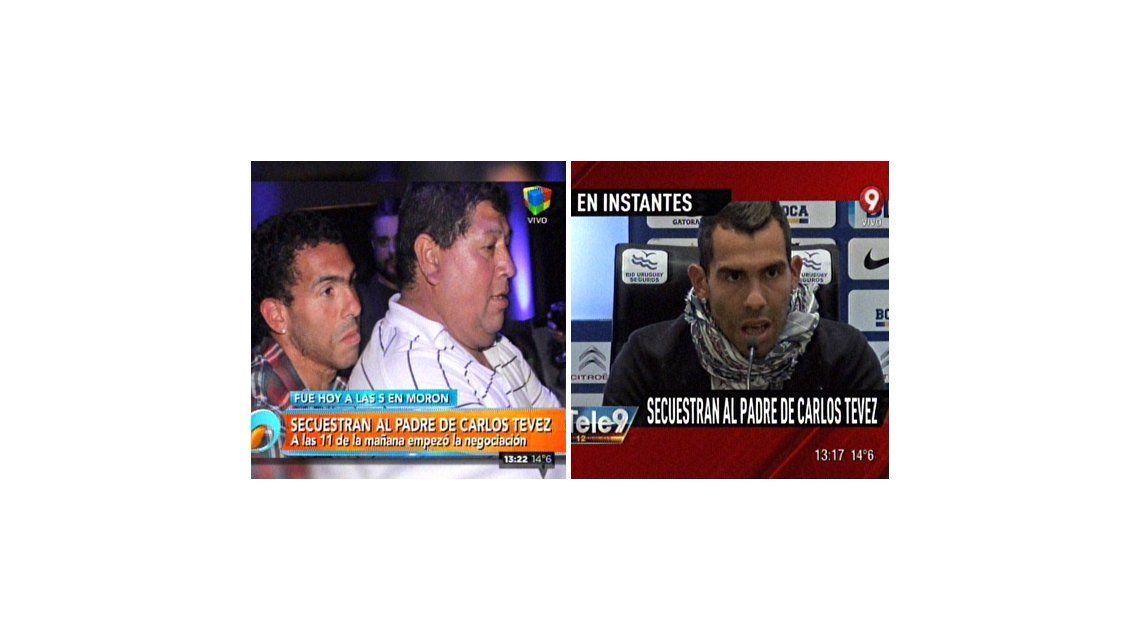 La televisión cambió su agenda por el secuestro del padre de Tévez: la cobertura