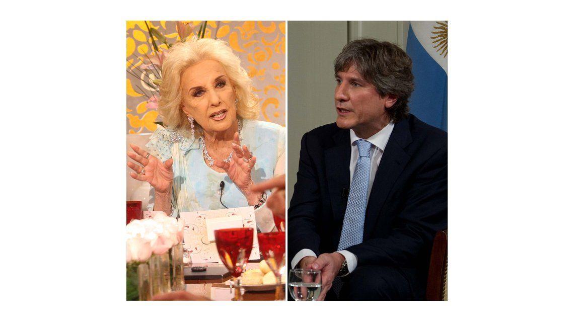 El deseo de Mirtha Legrand: Me encantaría tener a Amado Boudou en mi mesa