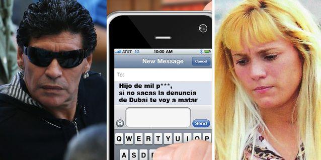 Diego Maradona denunció a Rocío Oliva por amenazas: Hijo de mil p..., te voy a matar