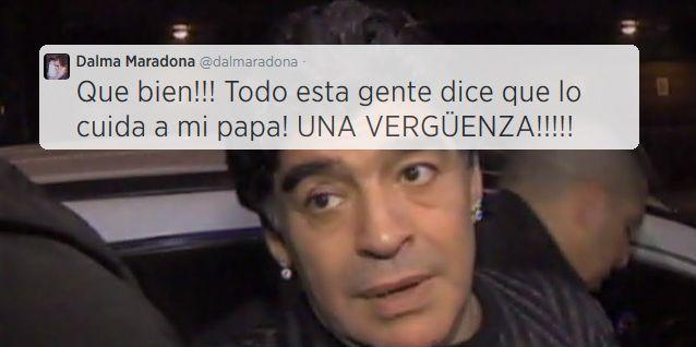 Dalma Maradona, preocupada por el estado de Diego: Así cuidan a mi papá; una vergüenza