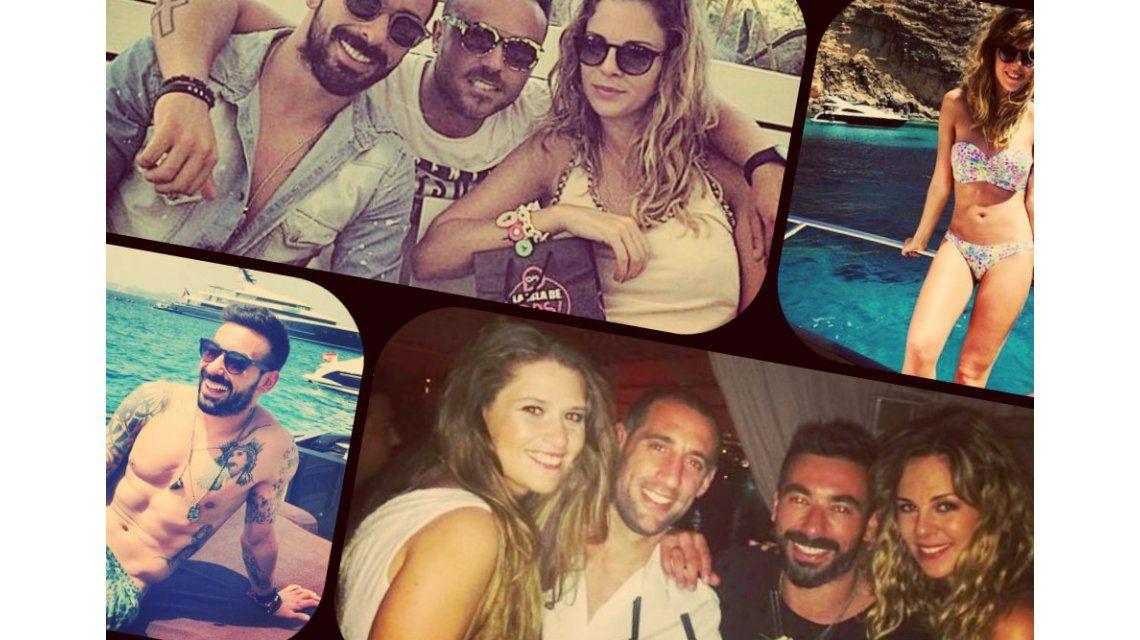 Las vacaciones de Pocho Lavezzi y su novia Yanina Screpante en Twitter