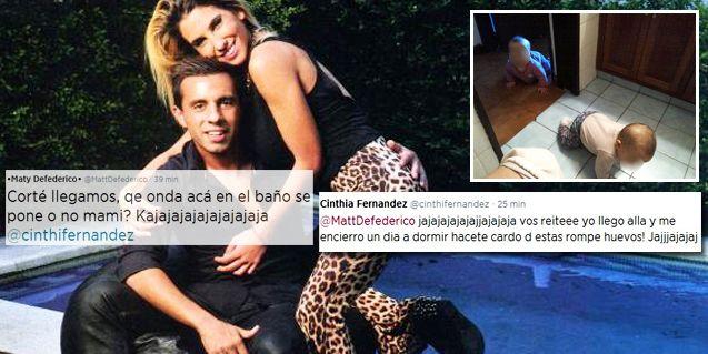 Los divertidos reclamos de Cinthia Fernández a Defederico: Hacete cargo de estas rompehuevos
