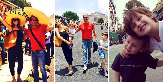 Las fotos de Pampita con sus hijos Bautista y Beltrán en un parque de diversiones en México