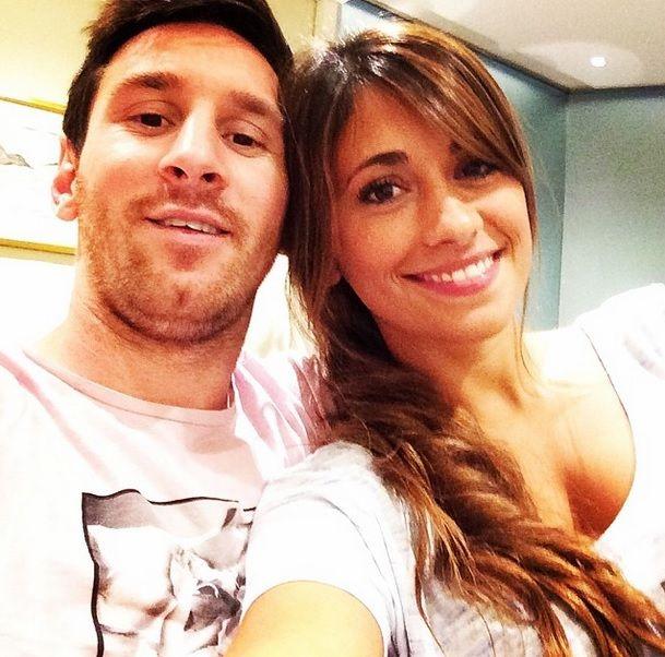 La romántica selfie de Lionel Messi y su mujer, Antonella Roccuzzo, en Rosario