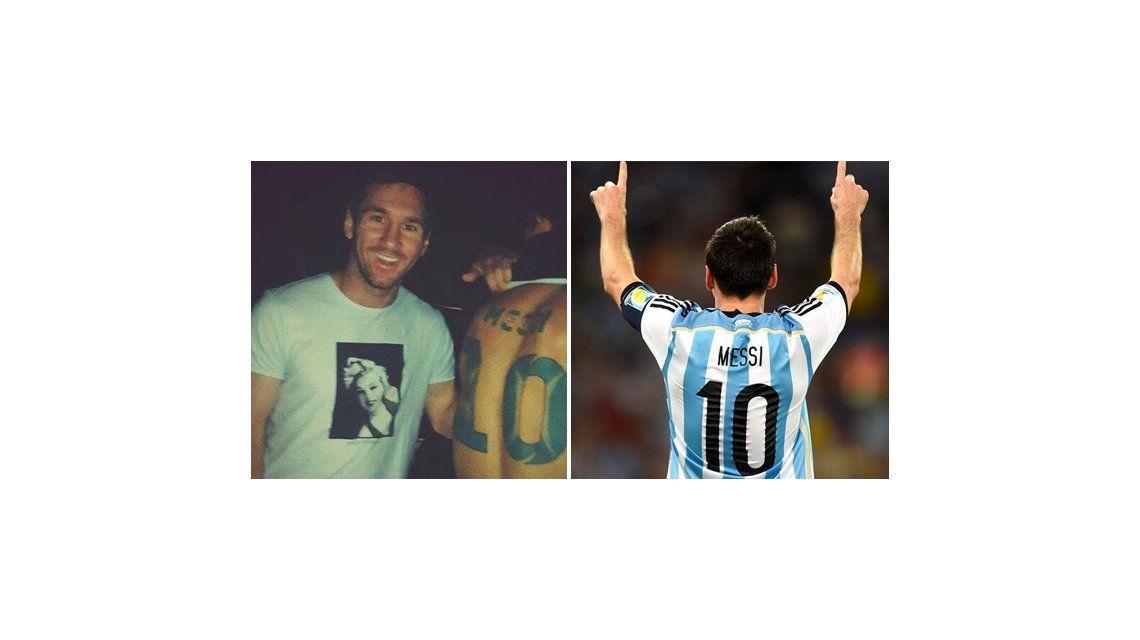 La camiseta de Messi: un fanático se tatuó el 10 y el nombre de Lio en la espalda