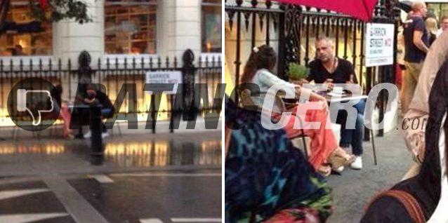 Recién llegados, las primeras fotos de Jorge Rial y Loly Antoniale en Europa: un café en Londres
