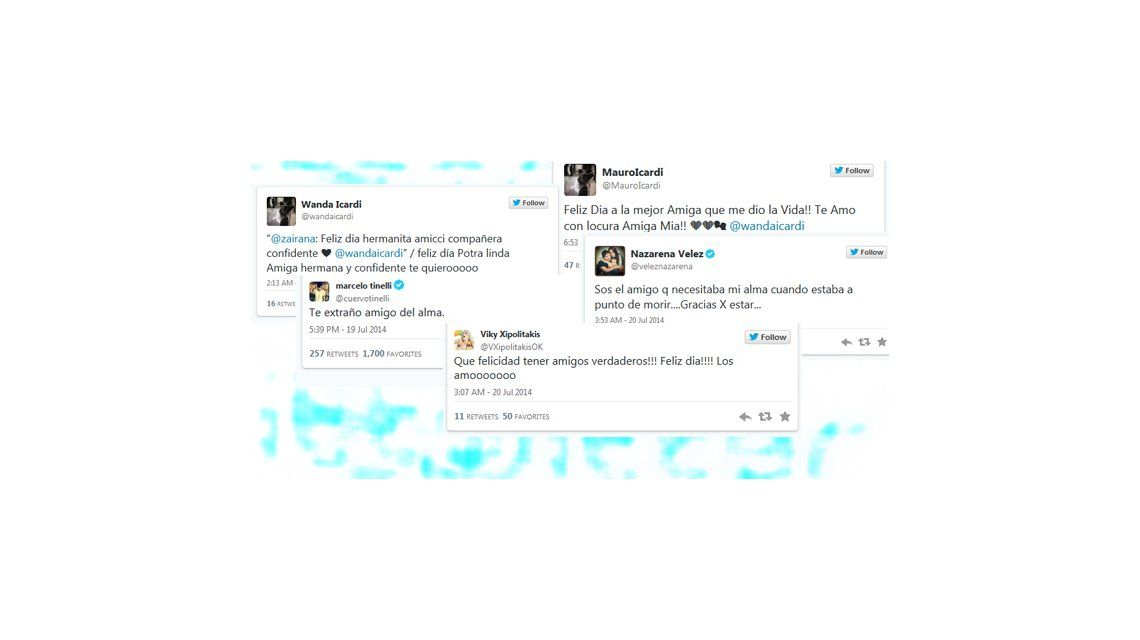 Día del amigo: los famosos saludaron a sus afectos a través de las redes sociales