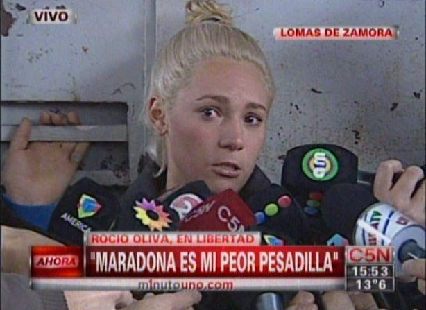 Liberaron a Rocío Oliva y habló con la prensa: Diego es mi peor pesadilla