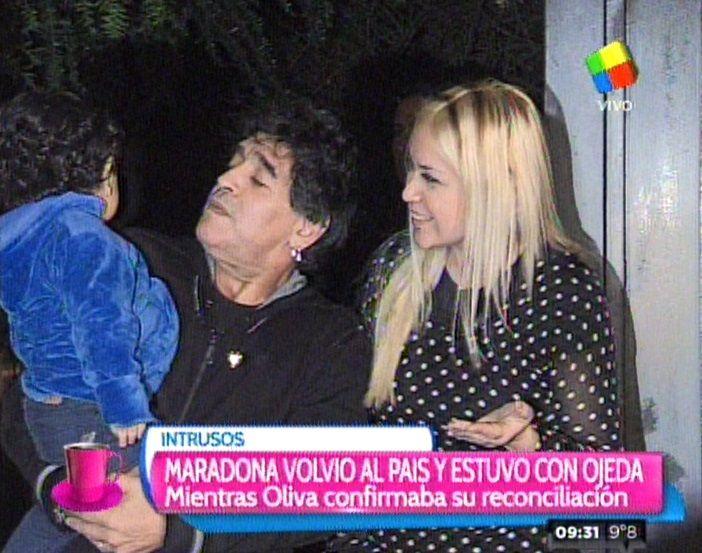 A pesar de los dichos de Rocío Oliva, Maradona y Verónica Ojeda están juntos otra vez