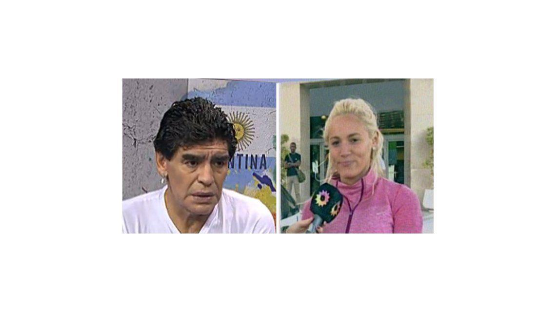 Rocío Oliva dice que se reconcilió con Maradona pero nadie lo comprueba