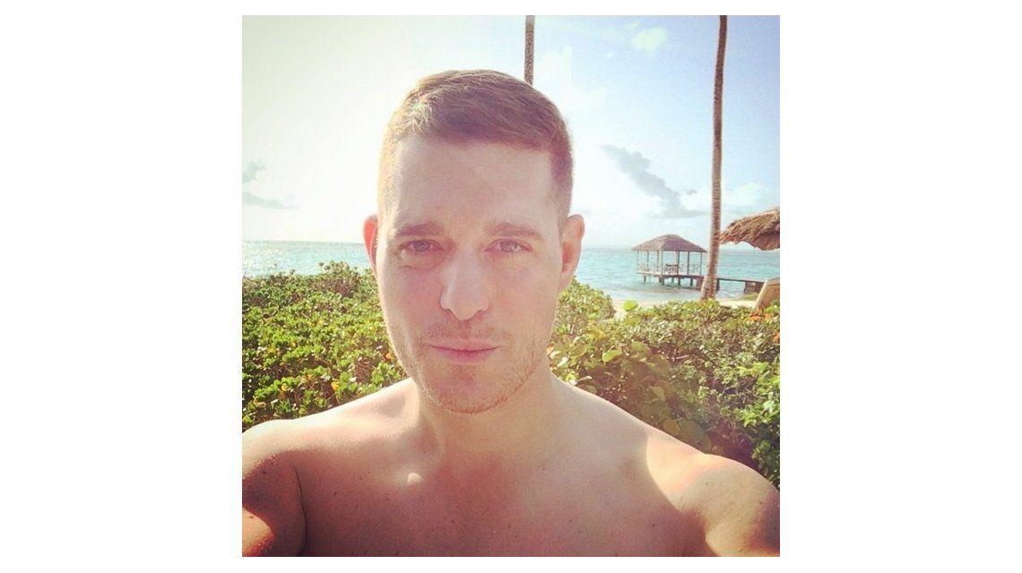 Las vacaciones de Luisana Lopilato, Michael Bublé y Noah: Culitos en la playa