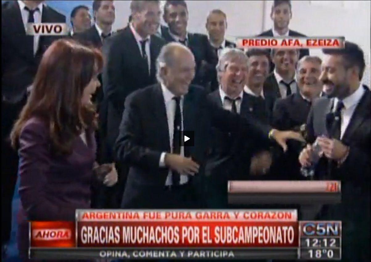 La divertida perlita de Alejandro Sabella y el Pocho Lavezzi con la Presidenta