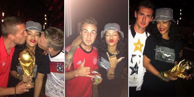 Rihanna se quedó sin Sergio Romero pero encontró consuelo en los alemanes