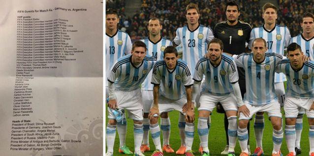 Esta fue la lista de invitados vip para el partido Argentina - Alemania