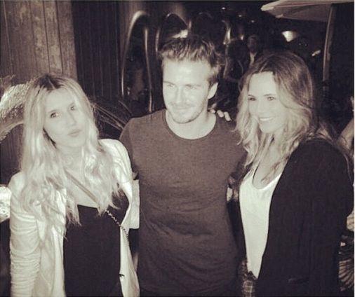 ¡Fanáticas! Las hijas de Tinelli se fotografiaron con Beckham