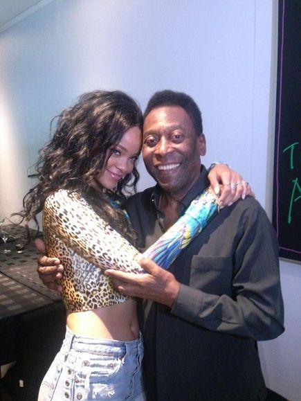 Pelé muy cerca de Rihanna: Mirá la foto que publicó el ex futbolista en las redes