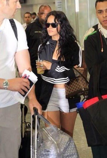Rihanna ya está en Brasil para ver la final y hacer que Eliana Guercio le entregue a Sergio Romero