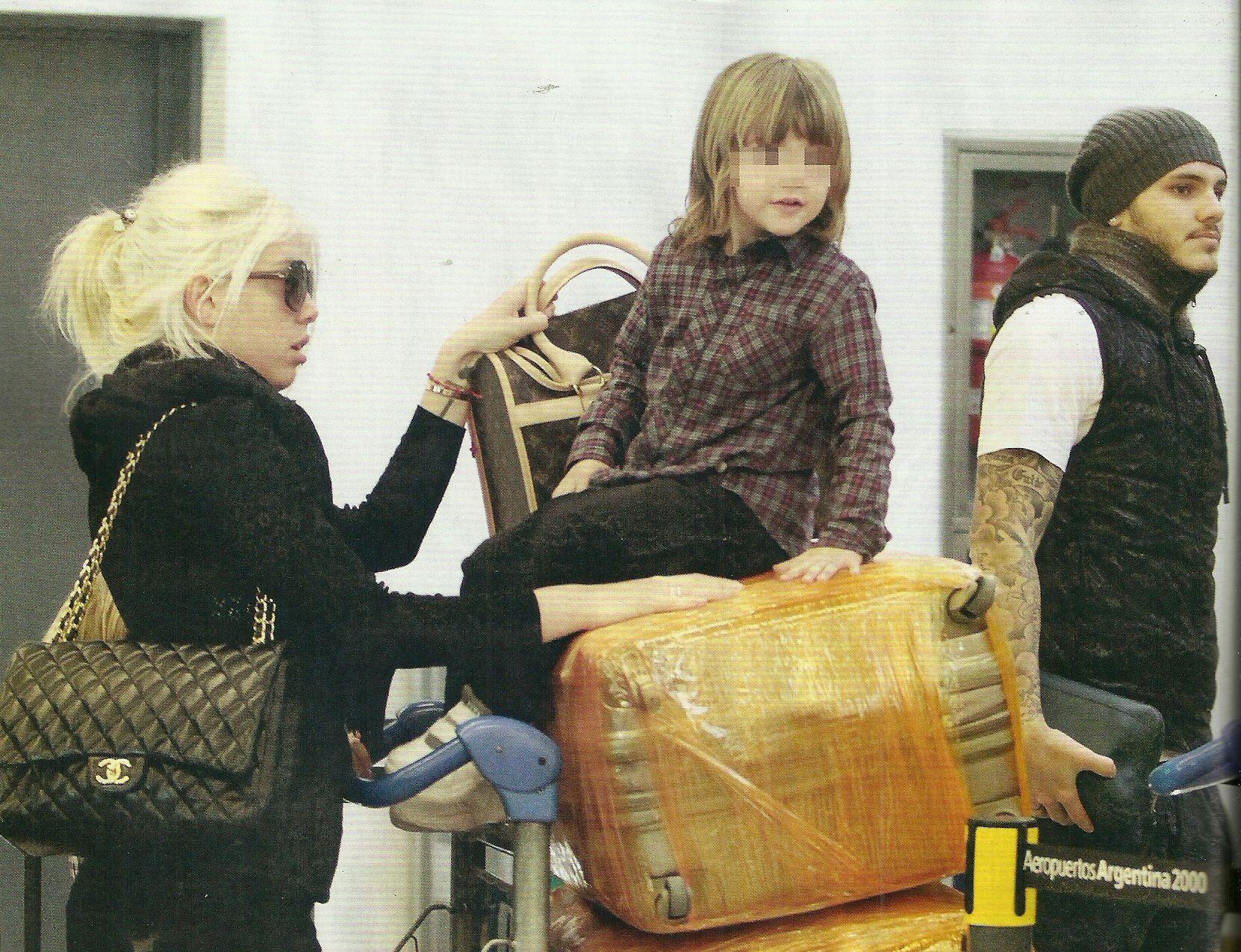 Wanda Nara y Mauro Icardi dejaron el glamour en Bs As: se llevaron aceitunas y quesos a Milán