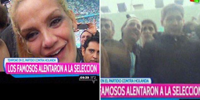 El festejo de las mujeres y los famosos en las tribunas del estadio en Brasil