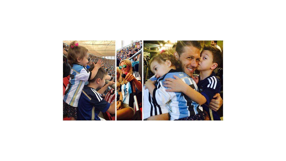 El álbum mundialista de Evangelina Anderson: el festejo por la victoria argentina y el reencuentro familiar