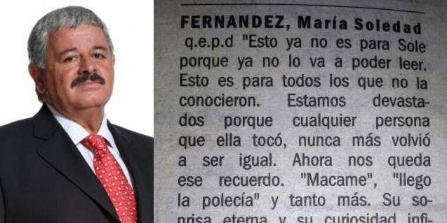 El mensaje de Adrián Paenza que emocionó a Tití Fernández: Sole vivió con pasión
