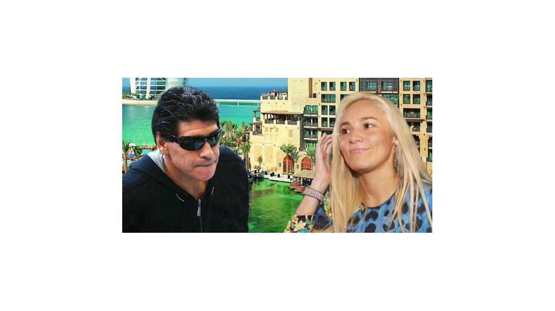 Diego Maradona viaja a Dubai para firmar la orden de captura mundial de Rocío Oliva