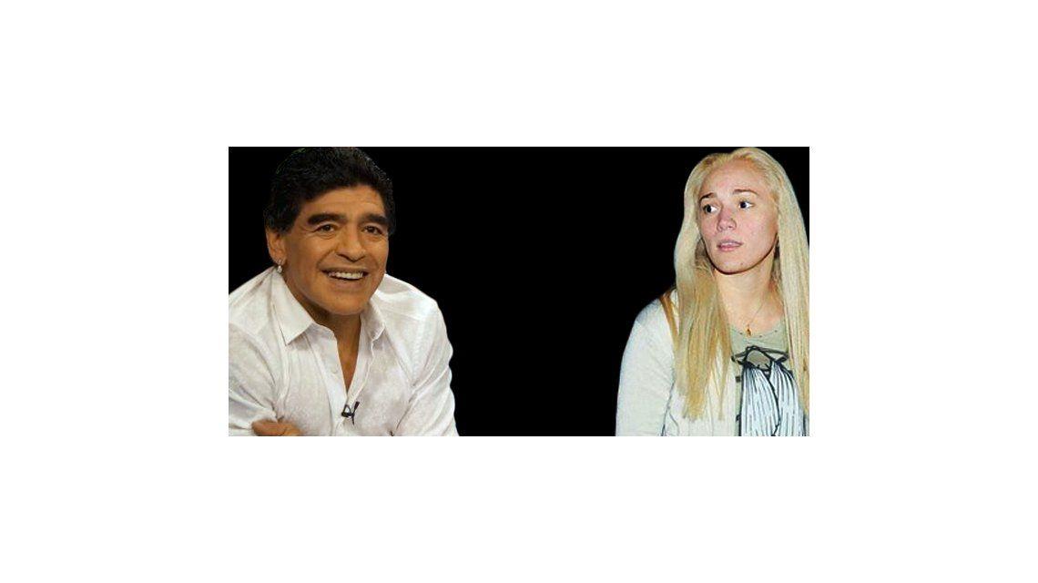 Diego Maradona y Rocío Oliva a los gritos y ¿golpes?  a la salida de un restaurante