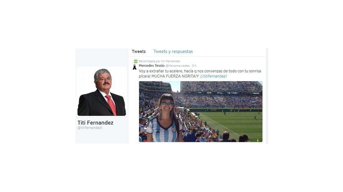 El mensaje que Tití Fernández compartió en Twitter sobre su hija: Voy a extrañar tu acelere
