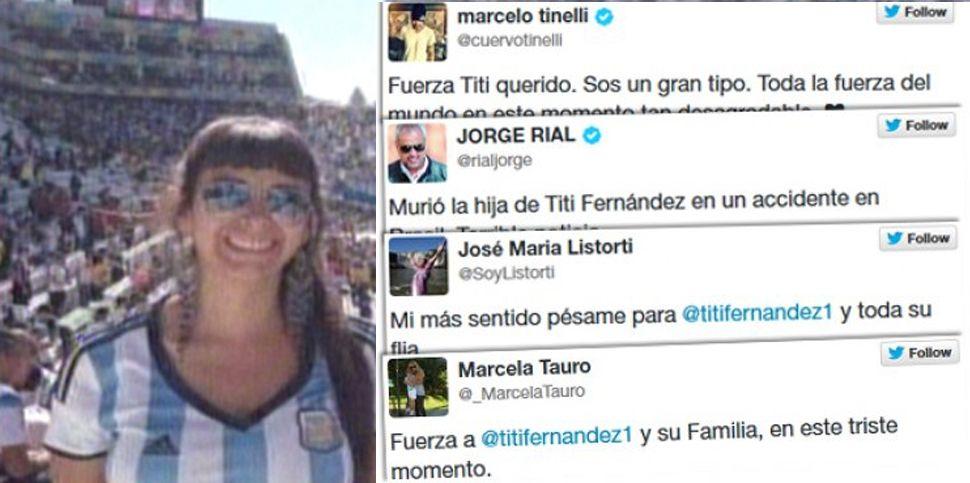 Los famosos enviaron sus condolencias a Tití Fernández por la muerte de su hija