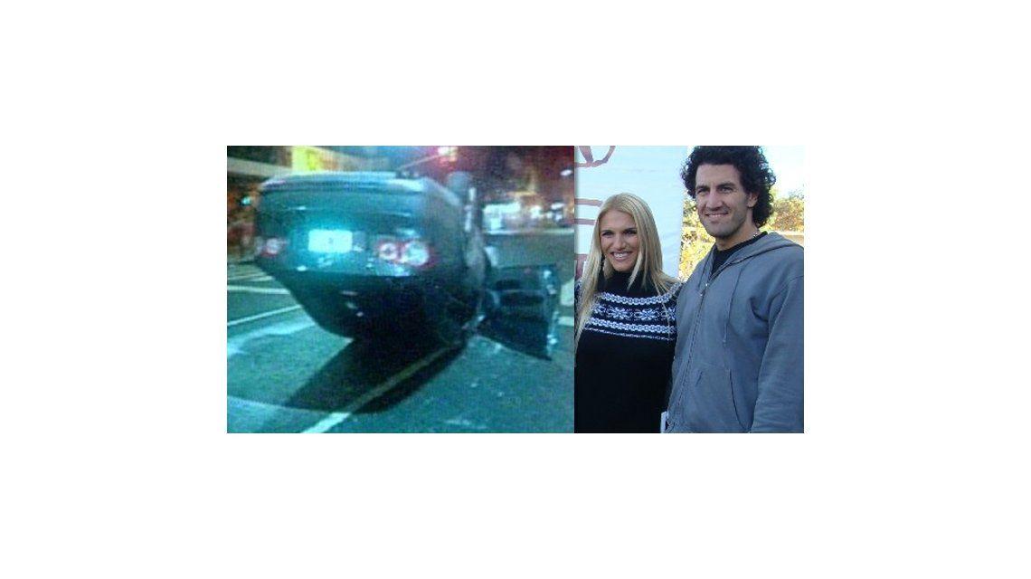 El novio de Carolina Oltra, Emanuel Moriatis, chocó con su auto y casi provoca una tragedia