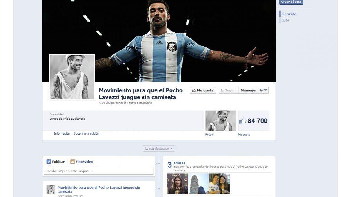 El Pocho Lavezzi: las chicas piden en Facebook que juegue sin camiseta