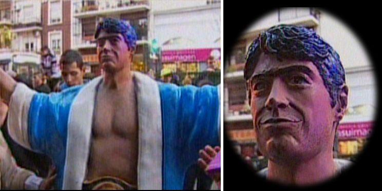 La estatua de Rodrigo: el emotivo homenaje a 14 años de su muerte