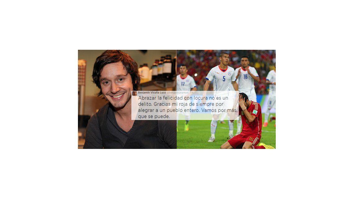 La alegría de Benjamín Vicuña por el triunfo de la selección chilena