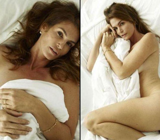 Se filtraron fotos de Cindy Crawford desnuda y sin photoshop